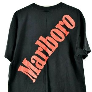 Men's VTG Rare Marlboro Black Pocket T-Shirt sz XL